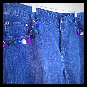 Ruby Rd. Woman 20W Jeans straight leg Bling